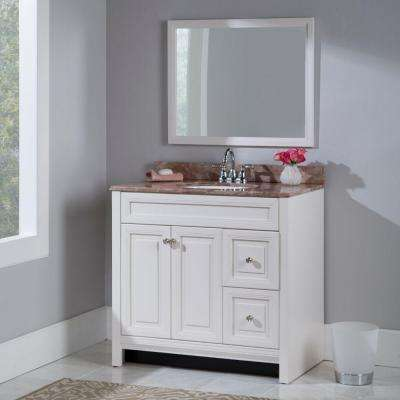 Brinkhill 36 in. W Bath Vanity Cabinet Only in Cream