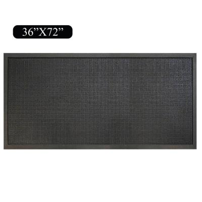 A1HC First Impression Heavy Duty 36 in. x 72 in. Rubber Stud Multi-Utility Door Mat