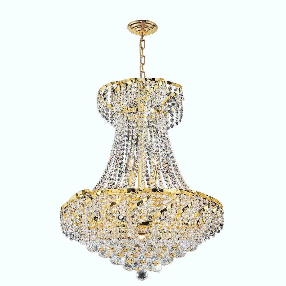 Worldwide lighting empire collection 32 light gold crystal empire collection 11 light polished polished gold and clear crystal chandelier arubaitofo Choice Image