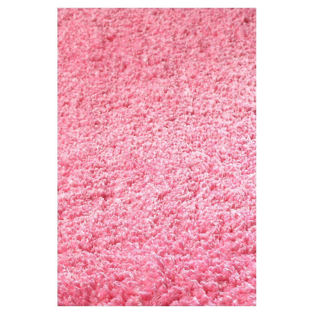 Kas Rugs Cushy Shag Hot Pink 7 ft. 6 in. x 9 ft. 6 in. Area Rug