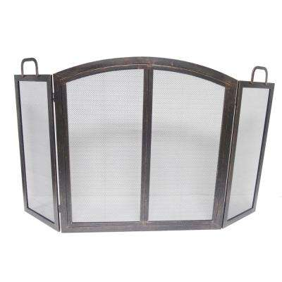 Oil-Rubbed Bronze 55 in. Brixton 3-Panel Fireplace Screen