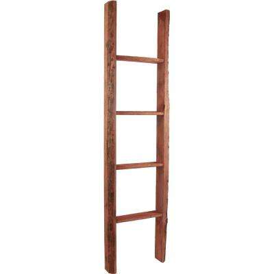 15 in. x 36 in. x 3 1/2 in. Barnwood Decor Collection Chalk Dust White Vintage Farmhouse 2-Rung Ladder