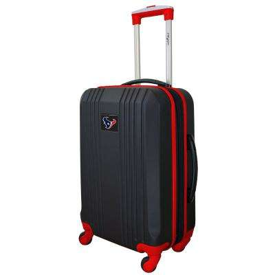 NFL Houston Texans Red 21 in. Hardcase 2-Tone Luggage Carry-On Spinner Suitcase