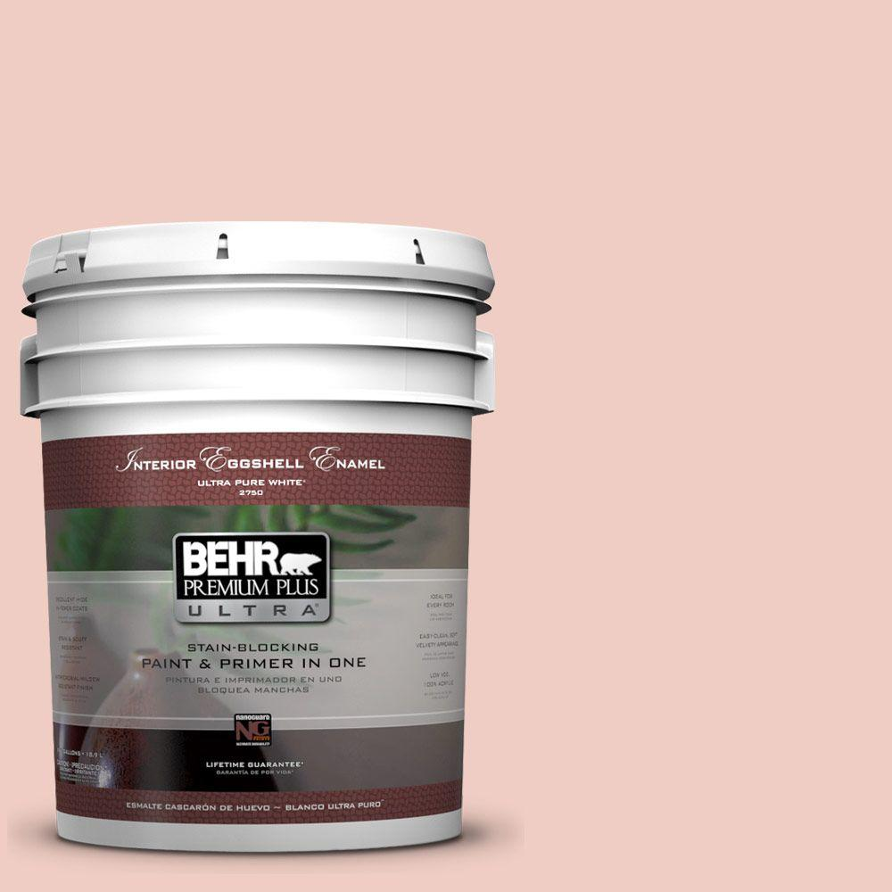 BEHR Premium Plus Ultra 5-gal. #200E-2 Salmon Tint Eggshell Enamel Interior Paint