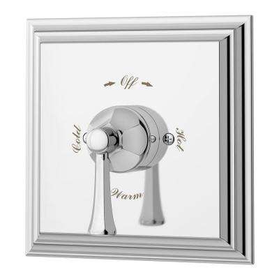 Canterbury 1-Handle Tub and Shower Faucet Trim Kit in Chrome (Valve Not Included)