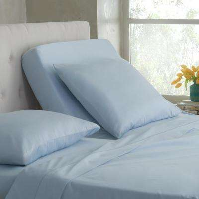 Split King T400 5-Piece Ballad Blue Cotton King Sheet Set