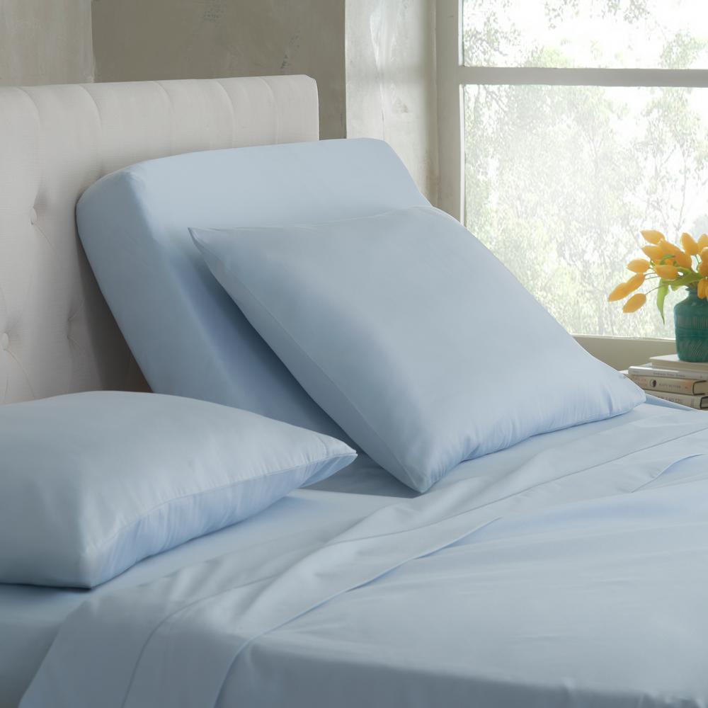 Split King T400 5-Piece Ballad Blue Cotton King Sheet Set