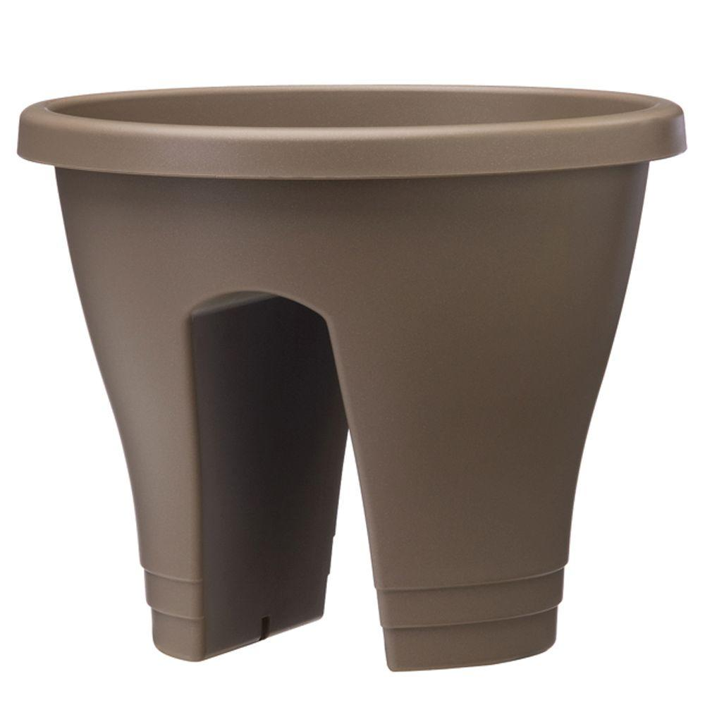 null 11 in. Caramel Flower Bridge Planter (Set of 2)