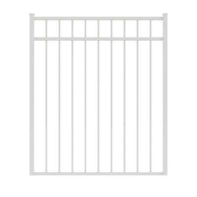 Vinings 4 ft. W x 4.5 ft. H White Aluminum Pre-Assembled Fence Gate