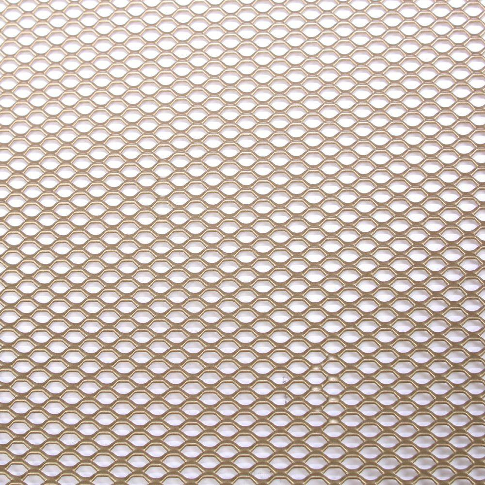 M-D Building Products 24 in. x 48 in. Expandable Aluminum Sheet in Brass