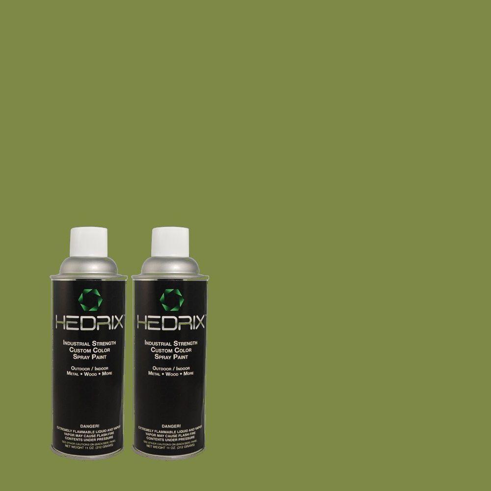 Hedrix 11 oz. Match of 430D-6 Happy Camper Semi-Gloss Custom Spray Paint (2-Pack)