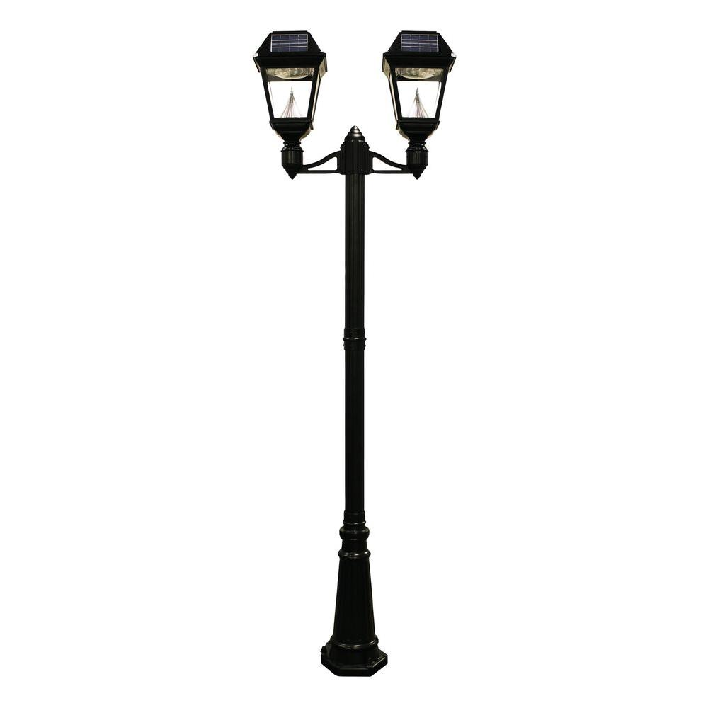 ws vintage w smd itm lamp leds path post solar street deck light ft purpose dual