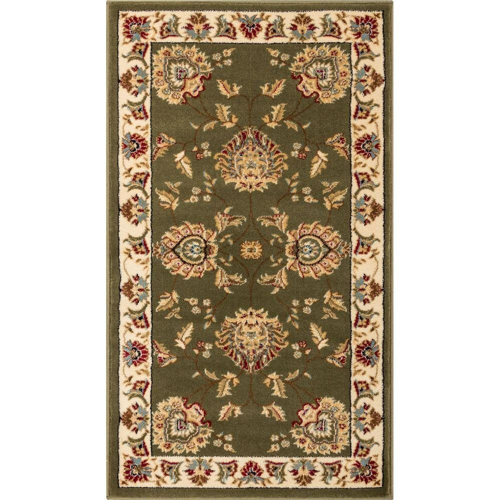 Well Woven Timeless Abbasi Green 2 Ft. 3 In. X 3 Ft. 11 In