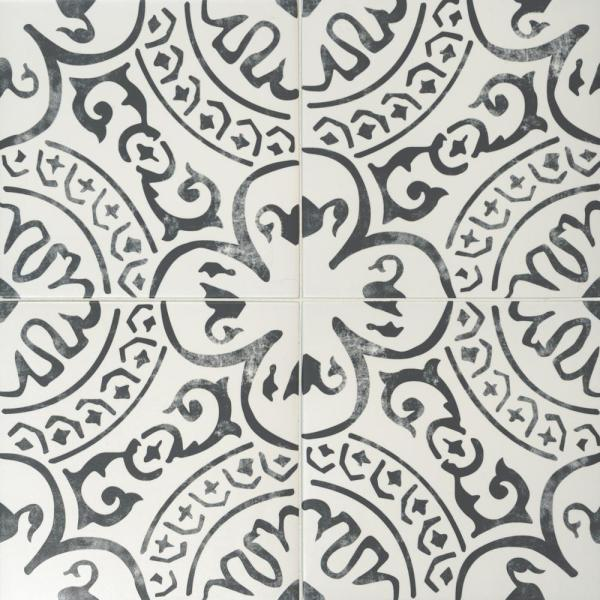 Paloma Encaustic 8 in. x 8 in. Matte Porcelain Floor and Wall Tile (5.33 sq. ft. /case)
