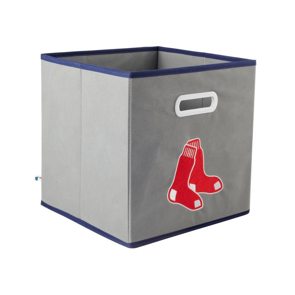 MyOwnersBox MLB STOREITS Boston Red Sox 10-1/2 in. x 10-1/2 in. x 11 in. Grey Fabric Storage Drawer