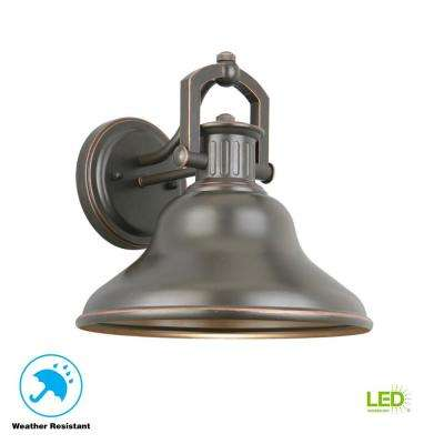 Lake Worth Oil-Rubbed Bronze LED Outdoor Wall Lantern