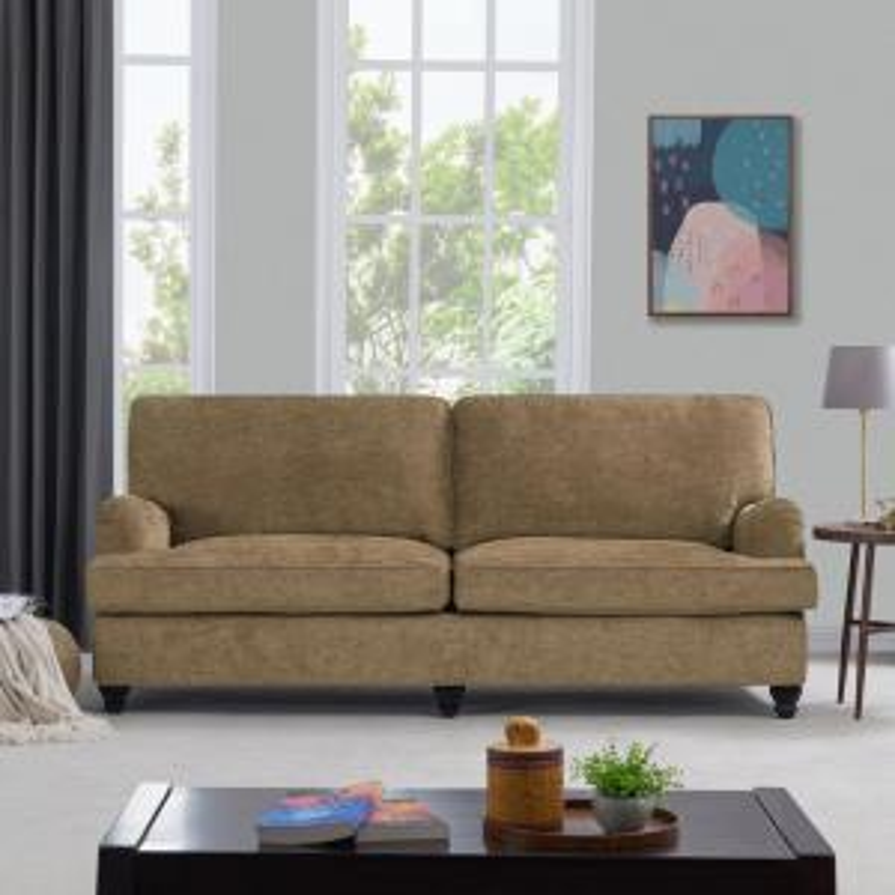 Handy Living Sommers Modern Classic Mocha Brown Herringbone ...
