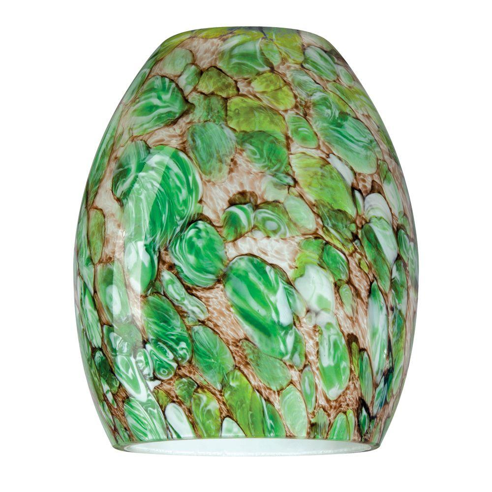 5-7/8 in. Hand-Blown Imperial Jade Neckless Glass Shade with 2-1/2 in.