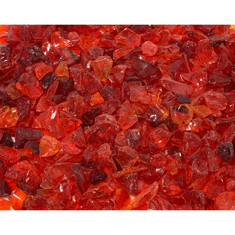 Margo Garden Products 1/4 in. 10 lb. Red Landscape Fire Glass