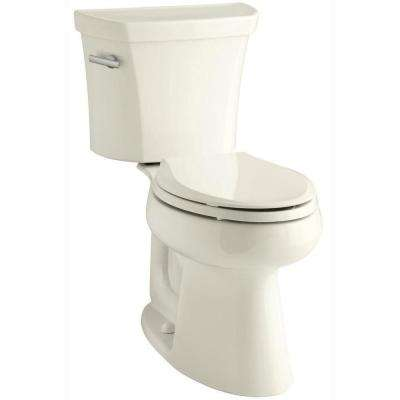 Highline 2-piece 1.28 GPF Single Flush Elongated Toilet in Biscuit, Seat Not Included
