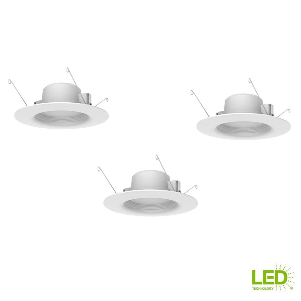 Commercial Electric Wink Compatible 4 In 65w Equivalent White Led Outdoor Light Fixture Kills Everything On Circuit Electrical Diy 5 And 6 Integrated Recessed Trim 3 Pack