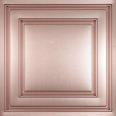 Oxford Faux Copper 2 ft. x 2 ft. Lay-in Ceiling Panel (Case of 6)