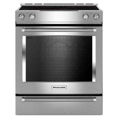 Incroyable Slide In Electric Range With Self Cleaning Convection Oven ...
