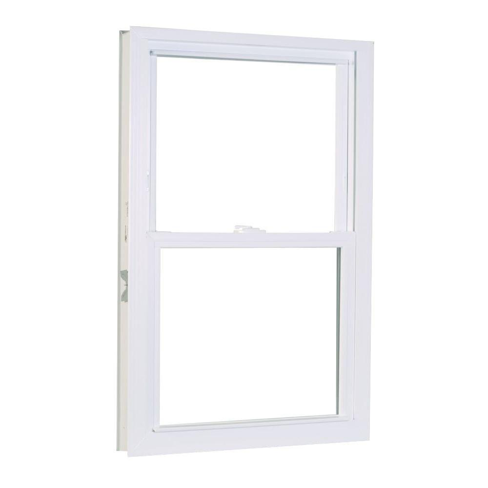 American Craftsman 23.75 in. x 53.25 in. 1200 Series Double Hung Buck Vinyl Window - White