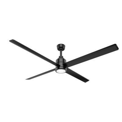 Trak 96 in. Integrated LED Indoor/Outdoor Matte Black Commercial Ceiling Fan with Light and Wall Control