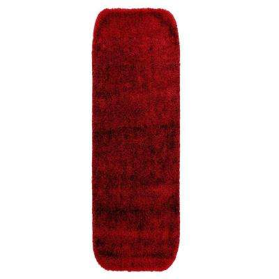Traditional Chili Pepper Red 22 in. x 60 in. Washable Bathroom Accent Rug