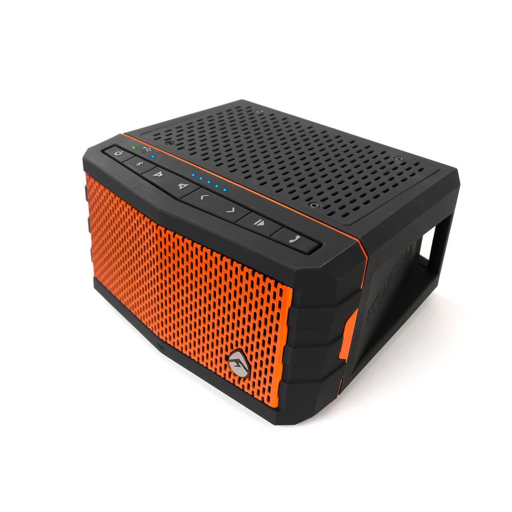 Ecoxgear ecojam waterproof bluetooth speaker orange gdi for F d portable speakers
