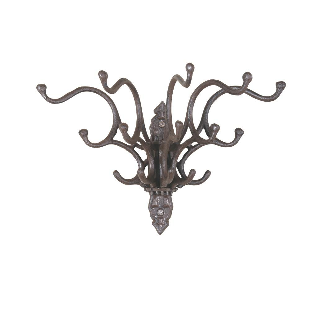 Fountain Wall Hook Cast Iron Metal Rustic Finish Home