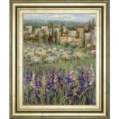 """22 in. x 26 in. """"Provencal Village I"""" by Longo Framed Printed Wall Art"""