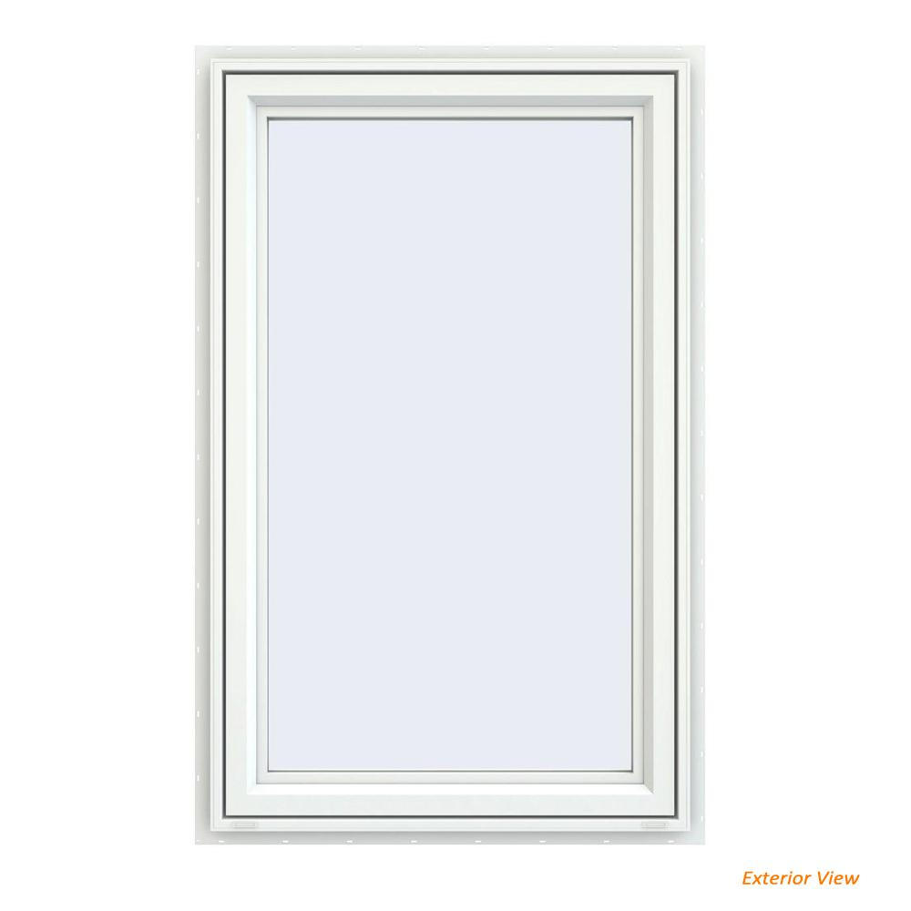 23.5 in. x 35.5 in. V-4500 Series White Vinyl Left-Handed Casement