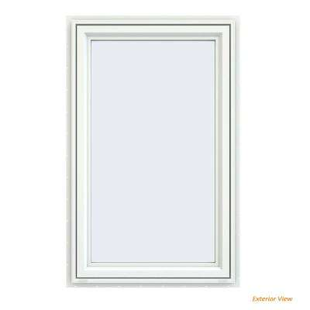 23.5 in. x 35.5 in. V-4500 Series White Vinyl Left-Handed Casement Window with Fiberglass Mesh Screen