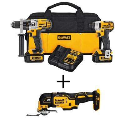 20-Volt MAX Lithium-Ion Cordless Hammer Drill/Impact Driver Combo Kit (2-Tool) with Bonus Oscillating Multi-Tool