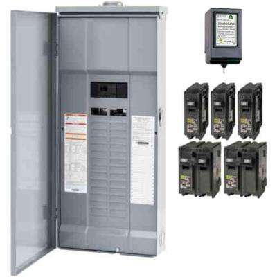 Homeline 200 Amp 30-Space 60-Circuit Outdoor Main Breaker Plug-On Neutral Load Center with Surge SPD - Value Pack