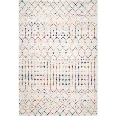 Blythe Modern Moroccan Trellis Light Multi 5 ft. Square Rug