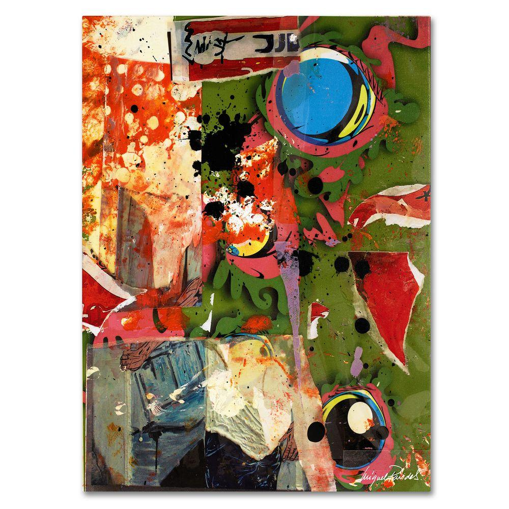 14 in. x 19 in. Urban Collage I Canvas Art