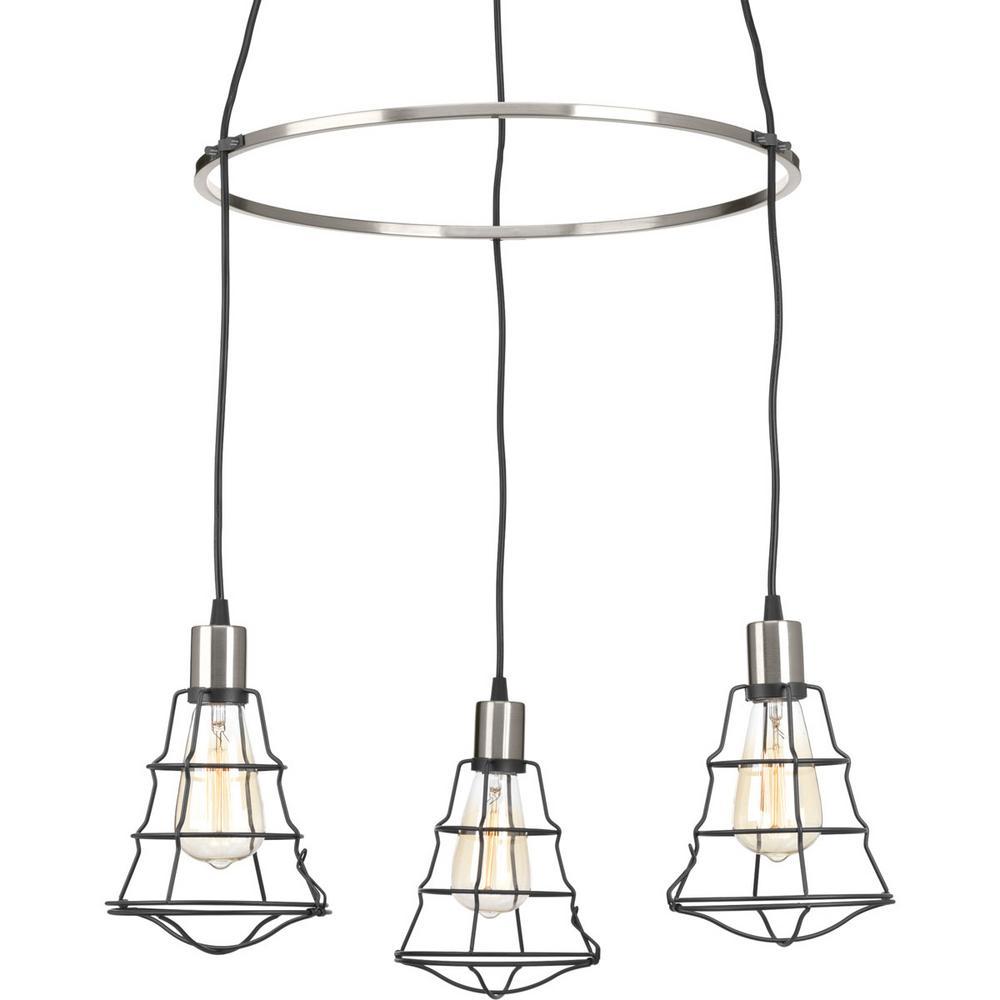 Gauge Collection 3-light Graphite Chandelier