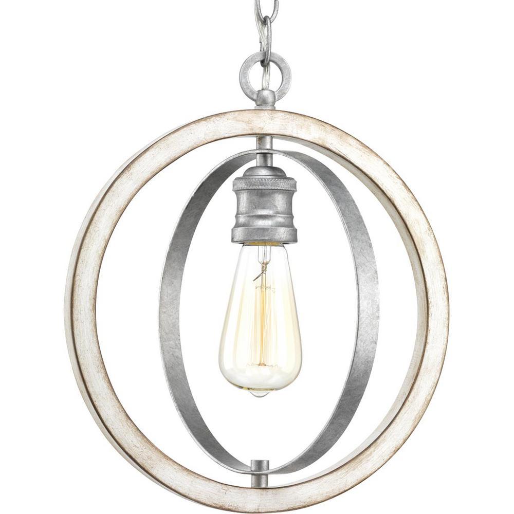 Conestee Collection 1-Light Galvanized Pendant