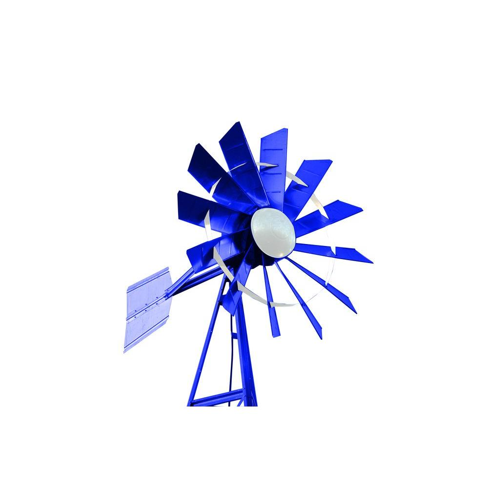 Outdoor Water Solutions 20 ft. Blue and White Powder Coated Windmill Aeration System