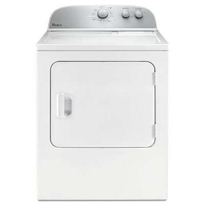 5.9 cu. ft. 120-Volt White Gas Vented Dryer with Wrinkle Shield and AutoDry Drying System
