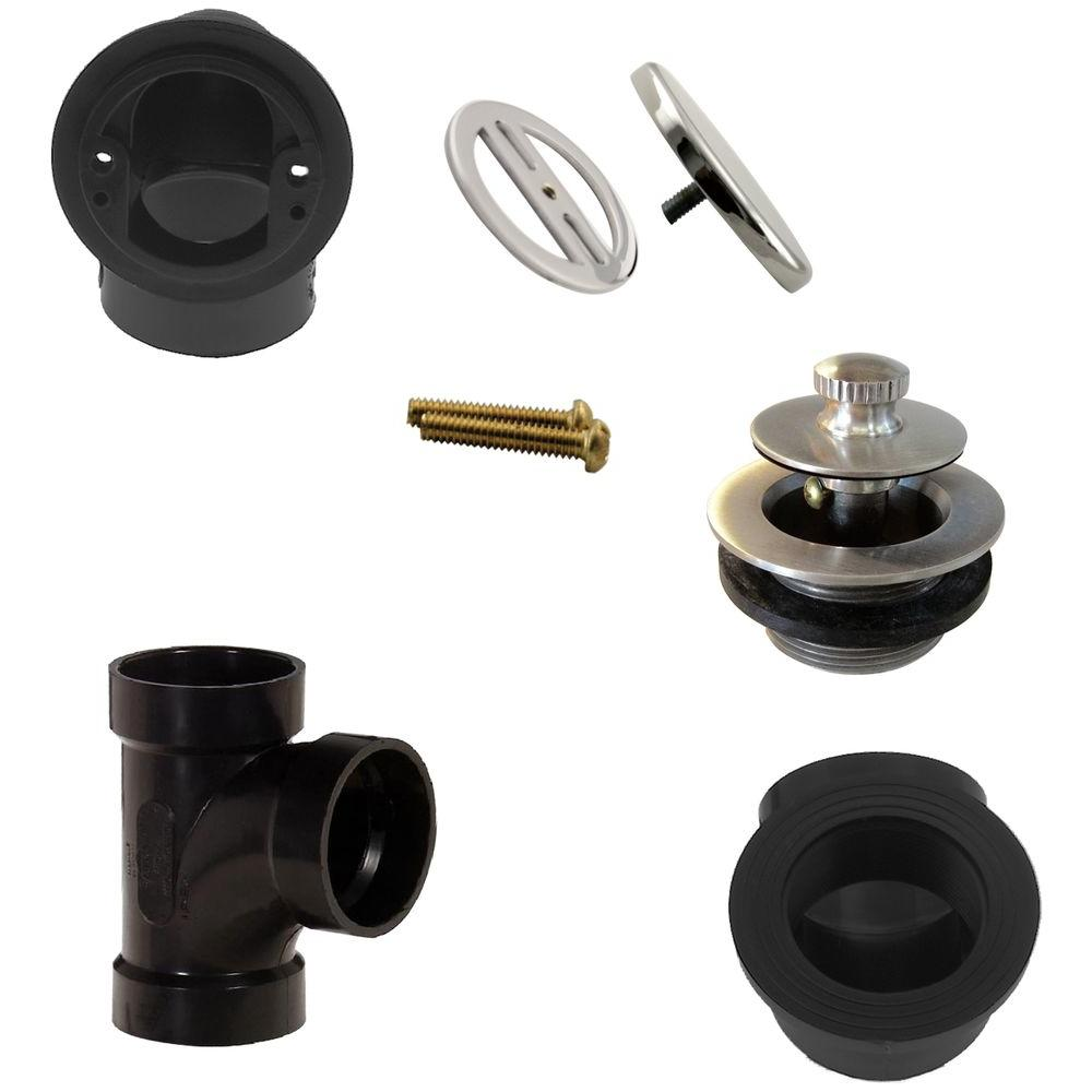Illusionary Overflow, Sch. 40 ABS Plumbers Pack with Lift and Turn