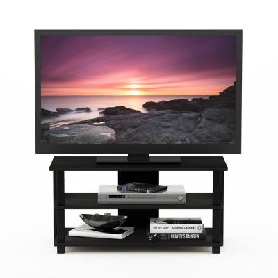 Sully Espresso/Black 3-Tier TV Stand for TV up to 40 in.