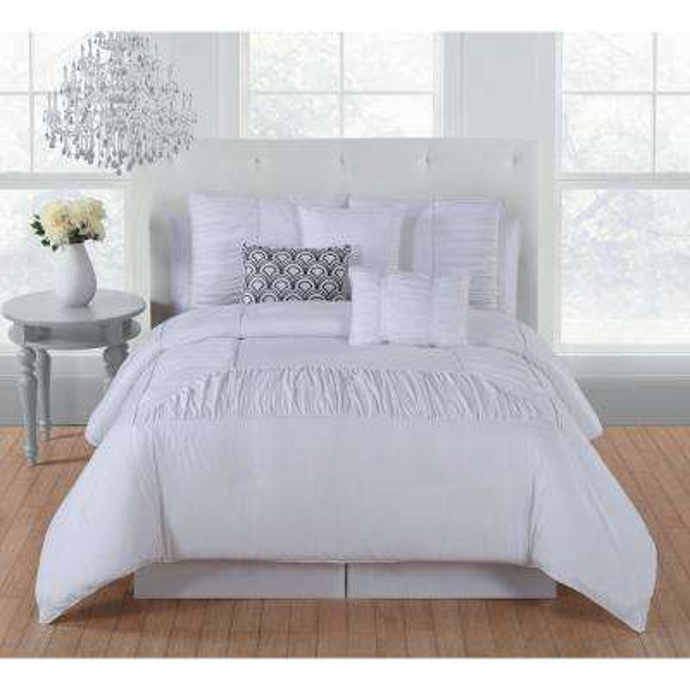 Jules 7-Piece Bright White King Comforter Set - 11-0601 TPX