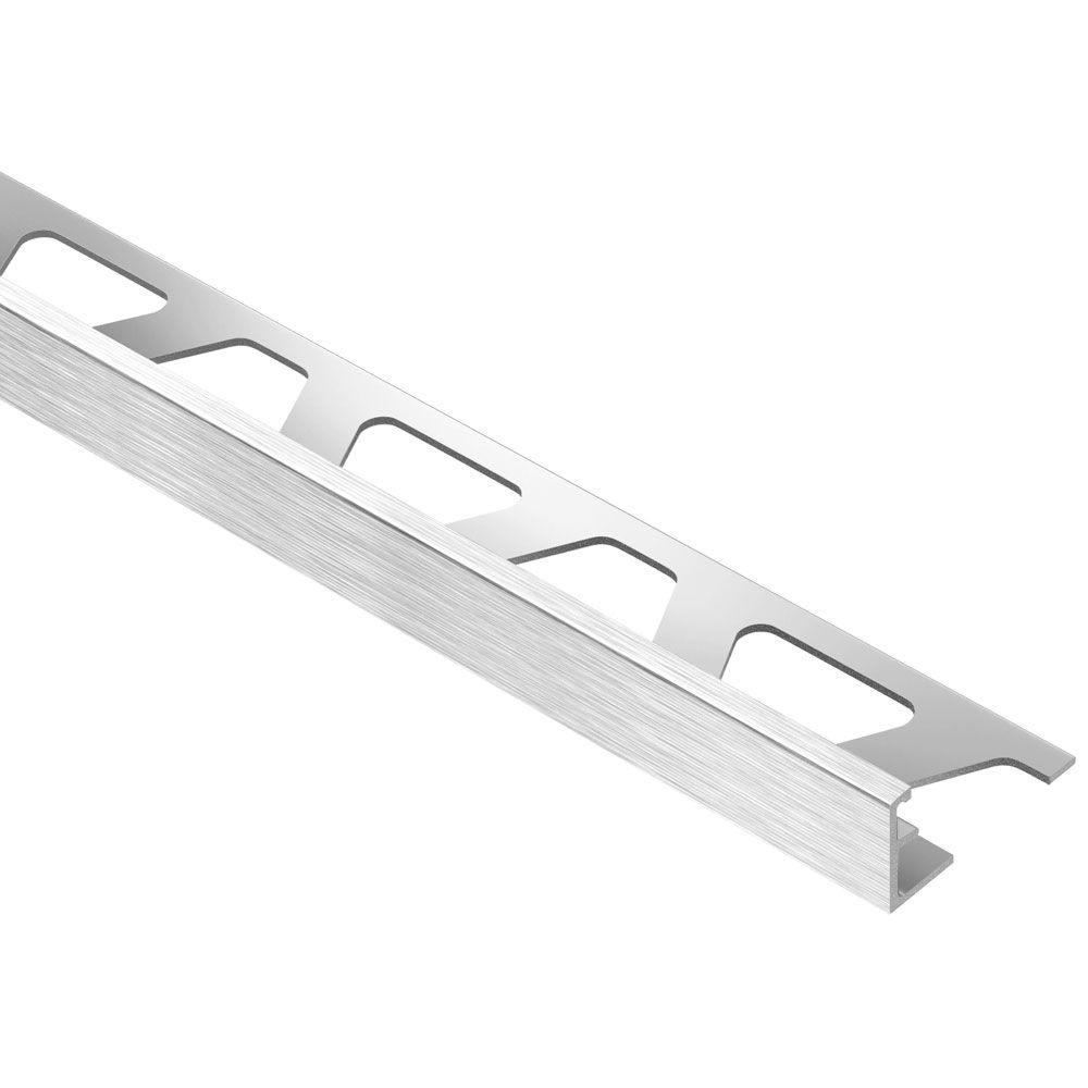 Schluter Jolly Brushed Chrome Anodized Aluminum 5/16 in. x 8 ft. 2-1/2 in. Metal Tile Edging Trim