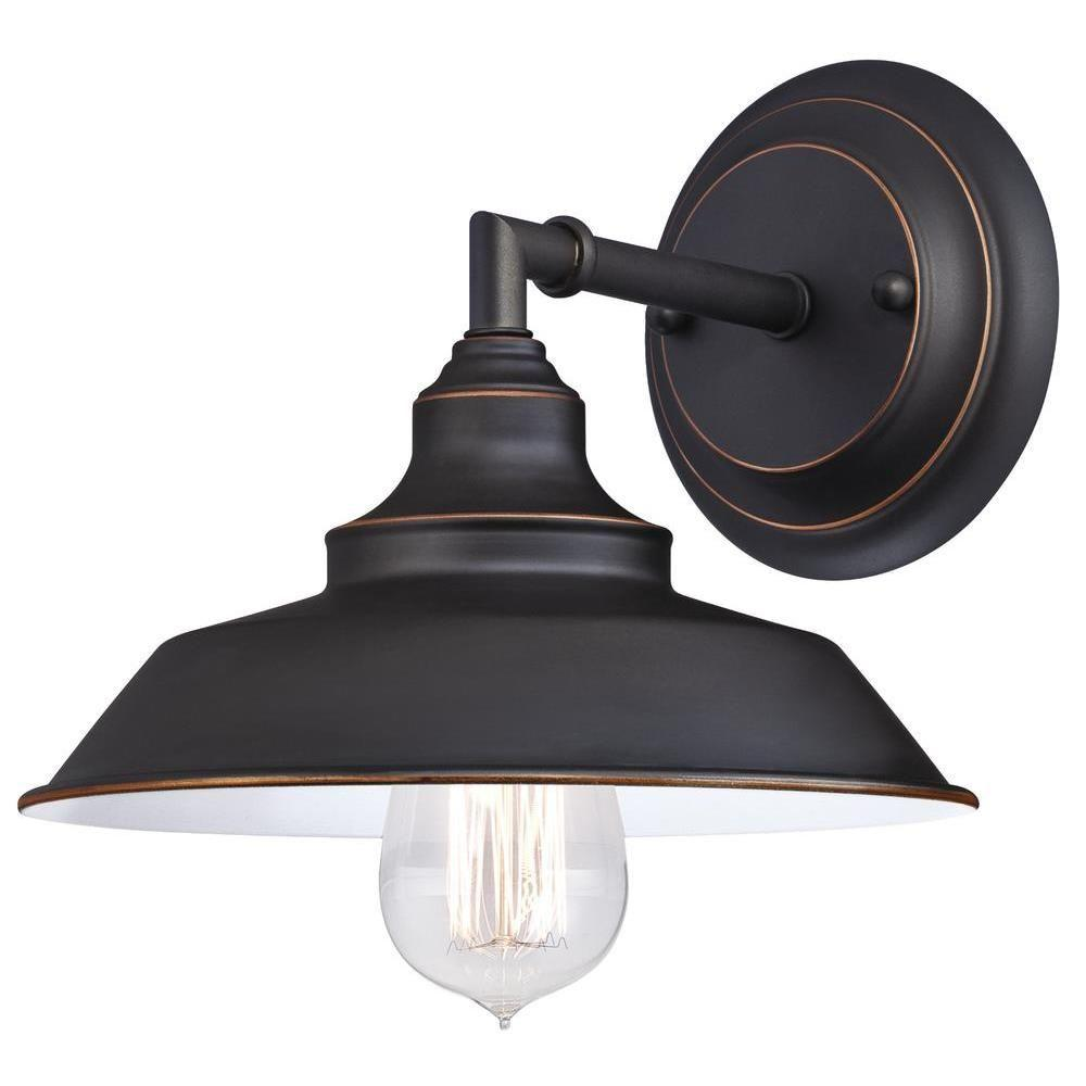 Oil Rubbed Bronze Wall Sconce Option Style Westinghouse Iron Hill 1-Light Oil Rubbed Bronze Wall Fixture