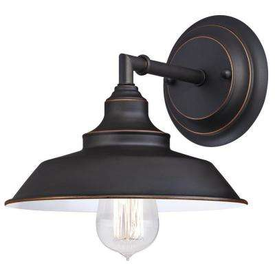Iron Hill 1 Light Oil Rubbed Bronze Wall Fixture
