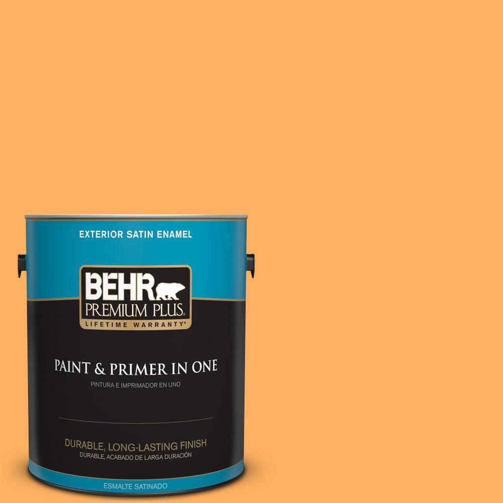 BEHR Premium Plus 1-gal. #280B-5 Vintage Orange Satin Enamel Exterior Paint